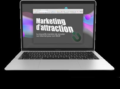 Image représentant le marketing d'attraction sur un ordinateur