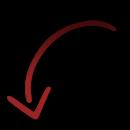 Flèche rouge dégradé