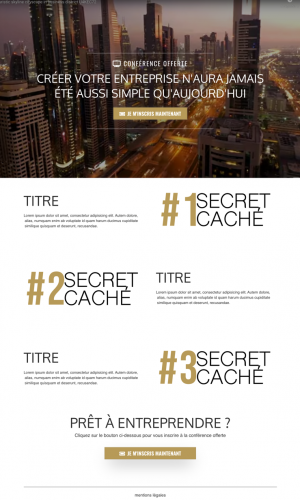Image montrant la page de capture du tunnel de vente MLM pour l'entreprise Ariix